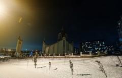 Церква св. ап. Петра зимою