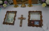 камінь з дому Діви Марії в Назареті, цінні мощі в храмі Успіння Богородиці (Гаї Шевченківські)
