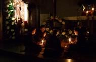 Після вечірньої Служби Божої відбулось дійство вшановуюче перехід св. Франциска т. зв. - Transitus, при виключеному світлі у тишині цілий храм молився роздумуючи про висхід душі св. Франциска до Божого Царства.