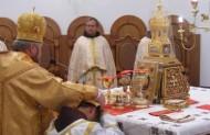 Диякон - слуга Престолу, на Літургії символізує ангела Божого