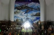 Вертеп виставлений Братами францисканцями в Тернополі, має 18 метрів висоти та 28 метрів ширини.