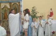 Привітання францисканців з нагоди 10-ліття їхнього служіння в парафії